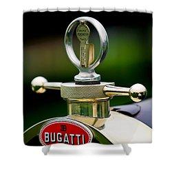 1923 Bugatti Type 23 Brescia Lavocat Et Marsaud Hood Ornament Shower Curtain by Jill Reger