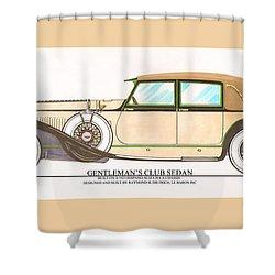 1923 Hispano Suiza Club Sedan By R.h.dietrich Shower Curtain by Jack Pumphrey