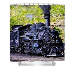 1923 Vintage  Railroad Train Locomotive  Shower Curtain