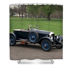 1924 Bentley 3.0 Litre Boat Tail Shower Curtain