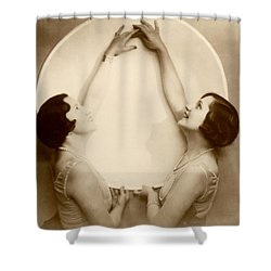 1925 Art Deco Porcelain Plate Shower Curtain