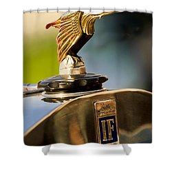 1925 Isotta Fraschini Tipo 8a S Corsica Boattail Speedster Hood Ornament Shower Curtain by Jill Reger