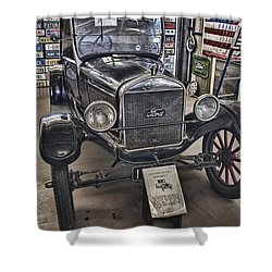 1926 Ford Model T Runabout Shower Curtain by Douglas Barnard
