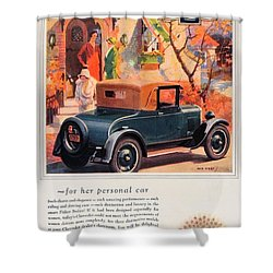 1927 - Chevrolet Advertisement - Color Shower Curtain