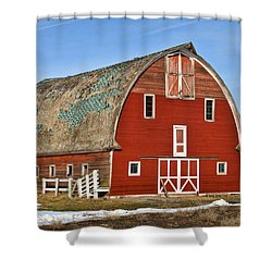 1927 Barn Shower Curtain
