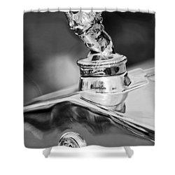 1927 Franklin Sedan Hood Ornament 2 Shower Curtain by Jill Reger