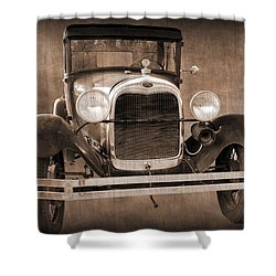 1928 Ford Model A Coupe Shower Curtain