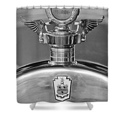 1928 Pierce-arrow Hood Ornament 2 Shower Curtain by Jill Reger