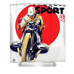1929 - Bmw Motorcycle Poster - Color Shower Curtain