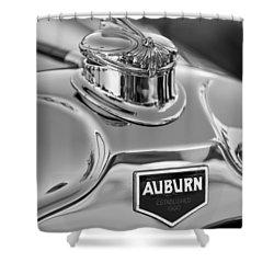1929 Auburn 8-90 Speedster Hood Ornament 2 Shower Curtain by Jill Reger