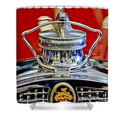 1929 Packard 8 Hood Ornament 2 Shower Curtain by Jill Reger