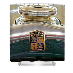 1930 Desoto K Hood Ornament Emblem Shower Curtain by Jill Reger