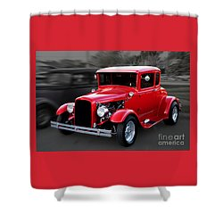 1930 Ford Model A Coupe Shower Curtain by Gene Healy