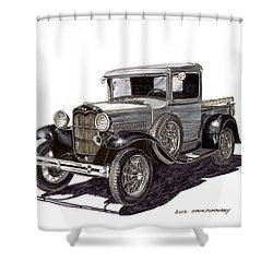 1930 Ford Model A Pick Up Shower Curtain by Jack Pumphrey