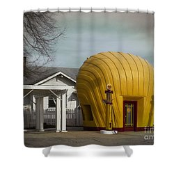 1930 Shell Station Shower Curtain