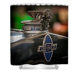 1931 Chevrolet Emblem Shower Curtain by Paul Freidlund