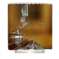 1931 Lasalle Hood Ornament Shower Curtain by Jill Reger