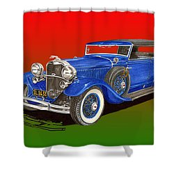 1931 Lincoln K Four Door Convertible Shower Curtain by Jack Pumphrey
