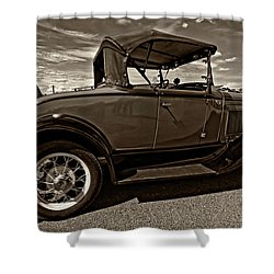 1931 Model T Ford Monochrome Shower Curtain by Steve Harrington