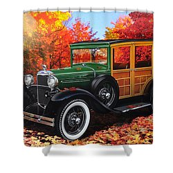 1931 Type 150-b Ford Shower Curtain by Carlos Avila