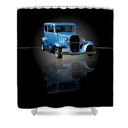 1932 Chevrolet Streetrod Shower Curtain by Davandra Cribbie
