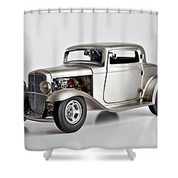 Shower Curtain featuring the photograph 1932 Ford 3 Window Coupe by Gianfranco Weiss