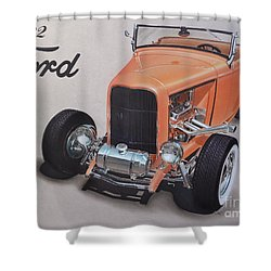 1932 Ford Shower Curtain by Paul Kuras