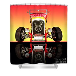 1932 Front Ford V8 Hotrod Shower Curtain by Jim Carrell
