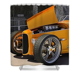 Shower Curtain featuring the digital art 1932 Hot Rod by Marvin Blaine