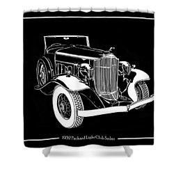 1932 Packard Light Eight Shower Curtain by Jack Pumphrey