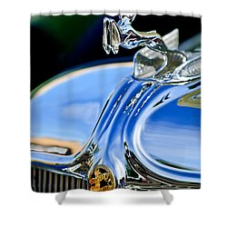 1933 Chrysler Imperial Hood Ornament 3 Shower Curtain by Jill Reger