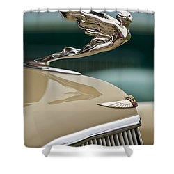 1935 Cadillac Convertible Hood Ornament Shower Curtain by Jill Reger