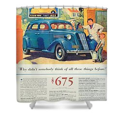 1936 - Nash Sedan Automobile Advertisement - Color Shower Curtain