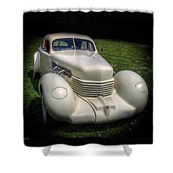Shower Curtain featuring the photograph 1936 Cord Automobile by Thom Zehrfeld