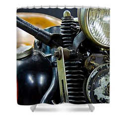 1936 El Knucklehead Harley Davidson Motorcycle Shower Curtain