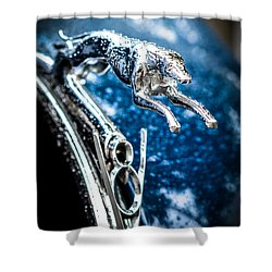 1936 Ford V8 Greyhound Hood Ornament  Shower Curtain