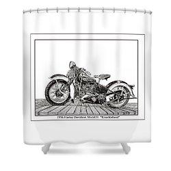 1936 Harley Knucklehead Shower Curtain