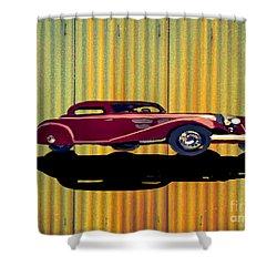1936 Mercedes Benz Classic Car Shower Curtain