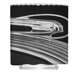 1936 Pontiac Hood Ornament 5 Shower Curtain by Jill Reger