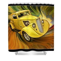 1936 Willys Shower Curtain