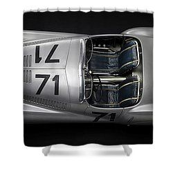 Shower Curtain featuring the digital art 1937 Bmw 328 Bugelfalte by Marvin Blaine
