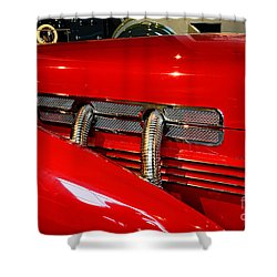 1937 Cord 812 Supercharged Phaeton Shower Curtain by Paul Ward