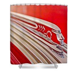 1937 Pontiac Chief Custom Hood Ornament Shower Curtain by Jill Reger