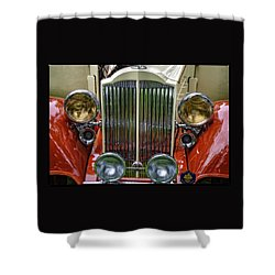 Shower Curtain featuring the photograph 1928 Classic Packard 443 Roadster by Thom Zehrfeld