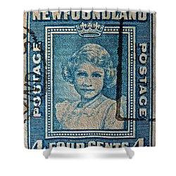 1938 Queen Elizabeth II Newfoundland Stamp Shower Curtain