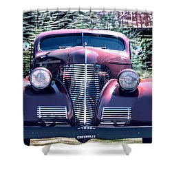 1939 Chevy Immenent Front Original Shower Curtain by Lesa Fine