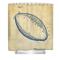 1939 Football Patent Artwork - Vintage Shower Curtain