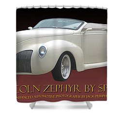 1939 Lincoln Zephyr Poster Shower Curtain by Jack Pumphrey