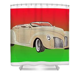 1939 Lincoln Zephyr Speedster Shower Curtain by Jack Pumphrey