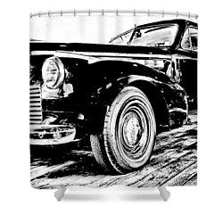 1940 Buick Century Shower Curtain